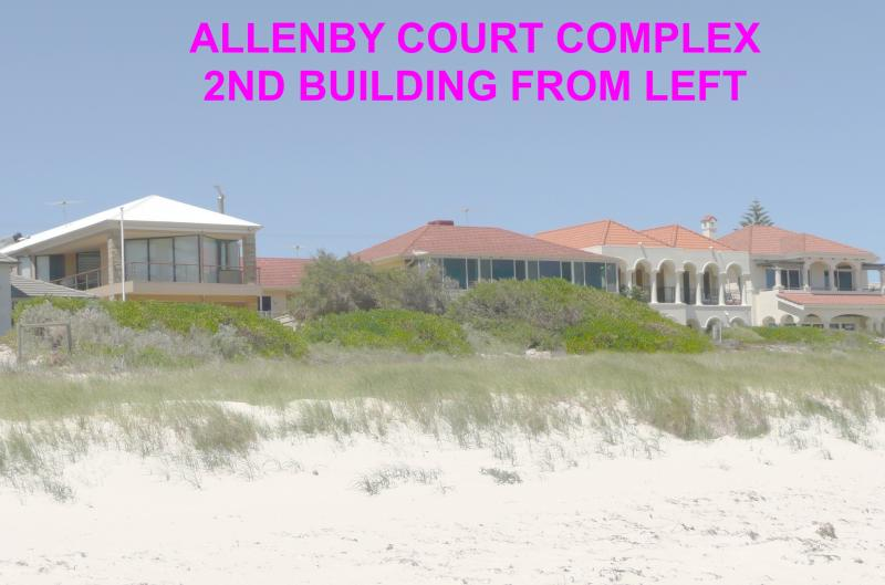 ALLENBY COURT COMPLEX FROM BEACH - Allenby Court Holiday Units