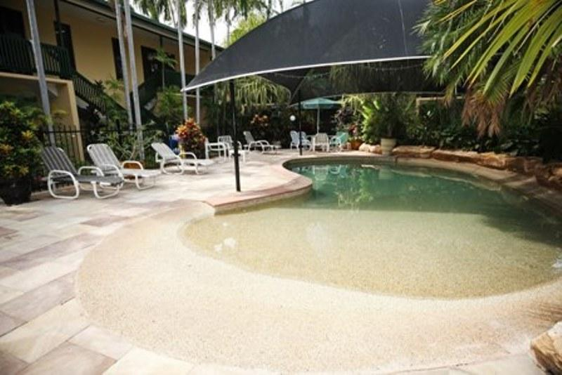 Nice Shaded Lagoon Pool With Tropical Gardens   City Gardens Apartments