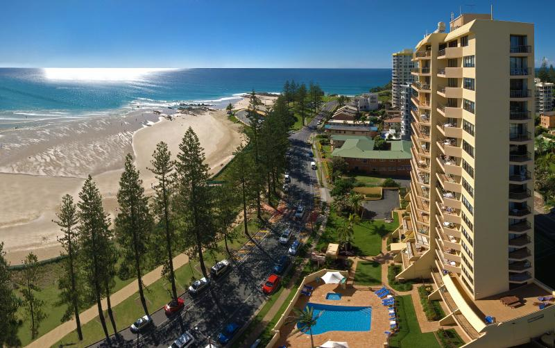 View showing Columbia Apartments on Rainbow Bay & Rainbow Bay - Columbia Apartments on Rainbow Bay