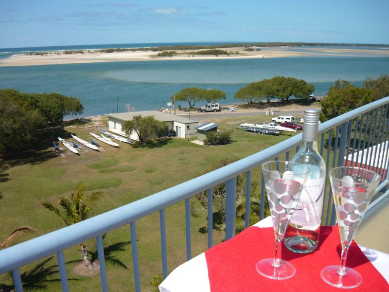 Our view of Bribie Island and Pumicestone Passage - Sails Resort