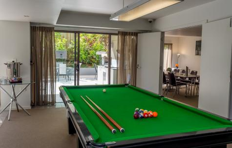 Billiards Table in Guest lounge - Essence Apartments