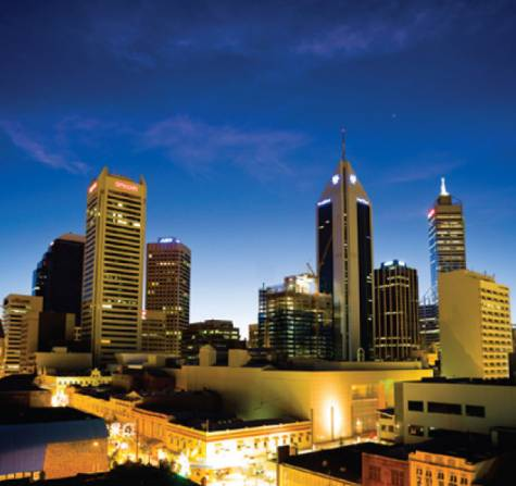 View - Adina Apartment Hotel Perth, Barrack Plaza
