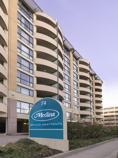 Front of building - Medina Serviced Apartments Canberra, James Court