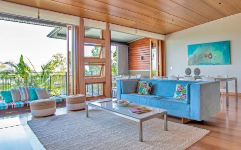 3 Bedroom Ocean / Hinterland Residence - Lounge - Noosa Residences